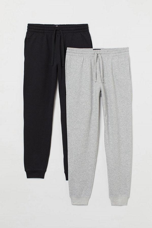 H&M 2-pack sweatpants svart