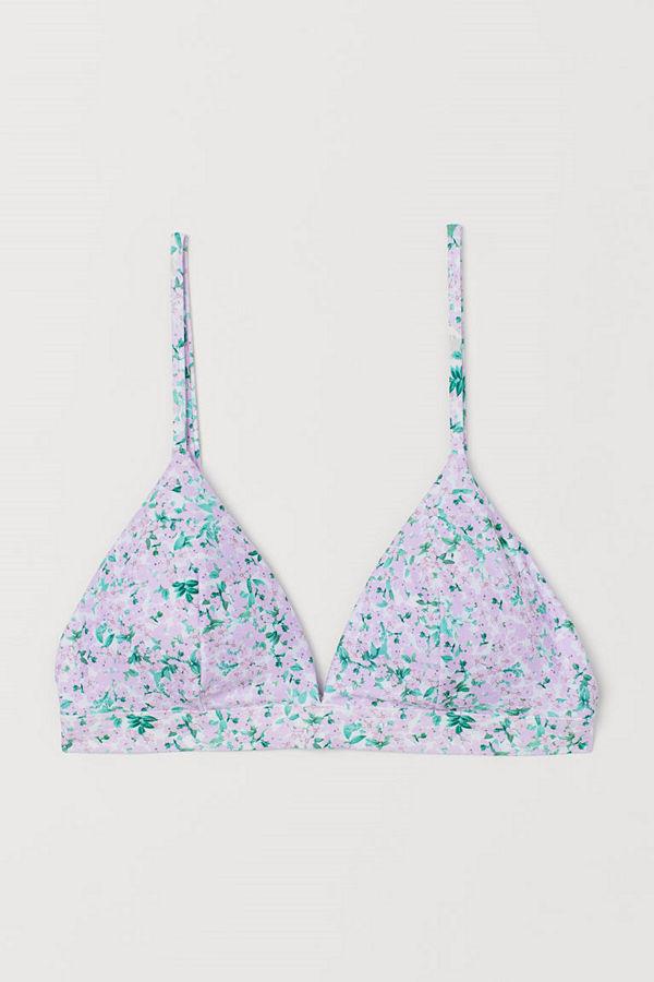 H&M Vadderad trekantsbikini-bh lila