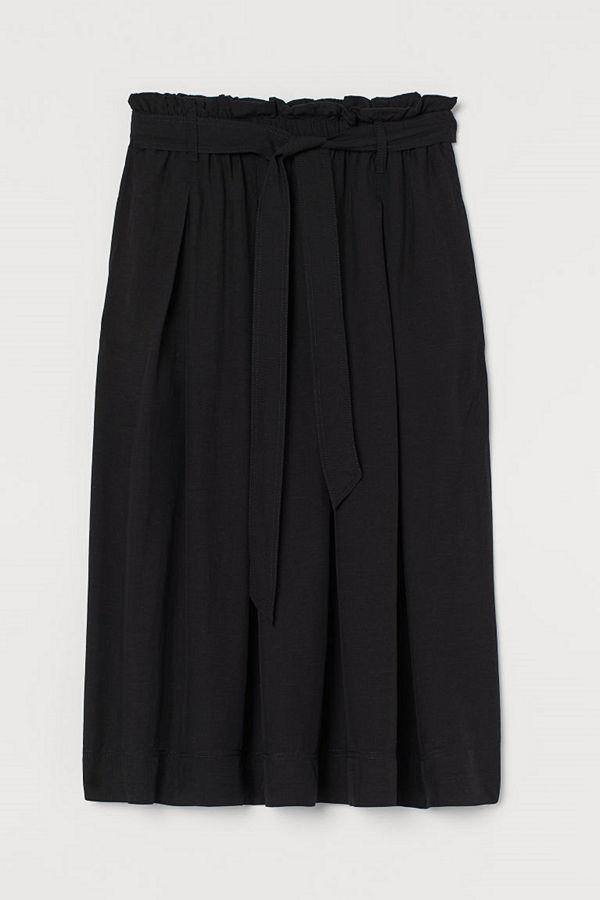 H&M Paper bag-kjol i lyocellmix svart