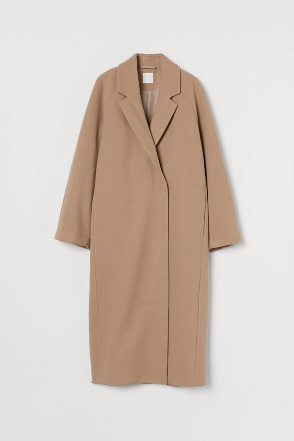 H&M Vadlång kappa brun