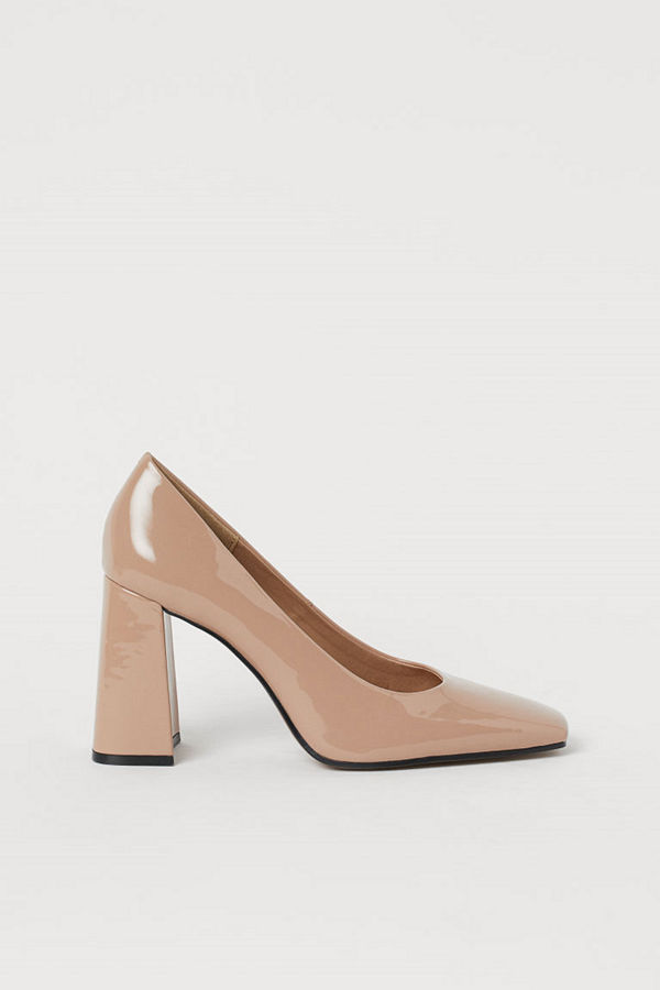 H&M Lackade pumps beige