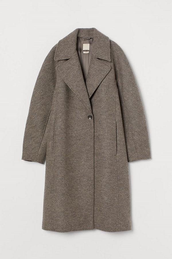 H&M Kappa i ull grå