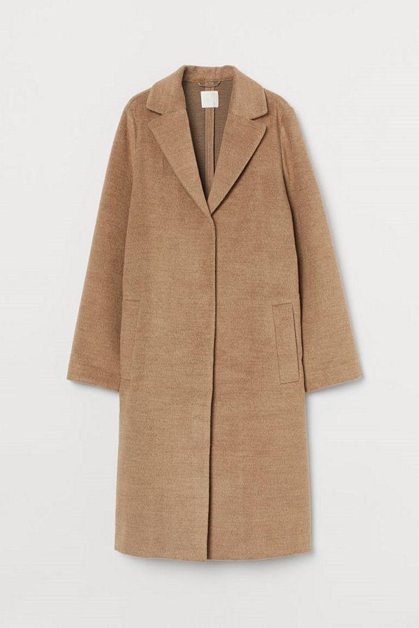 H&M Knälång kappa beige