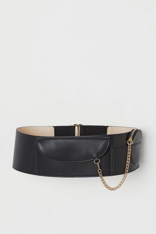 H&M Midjeskärp med väskor svart