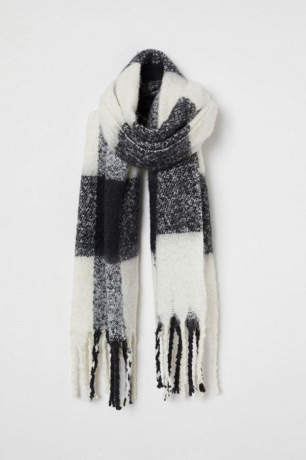 H&M Borstad scarf svart