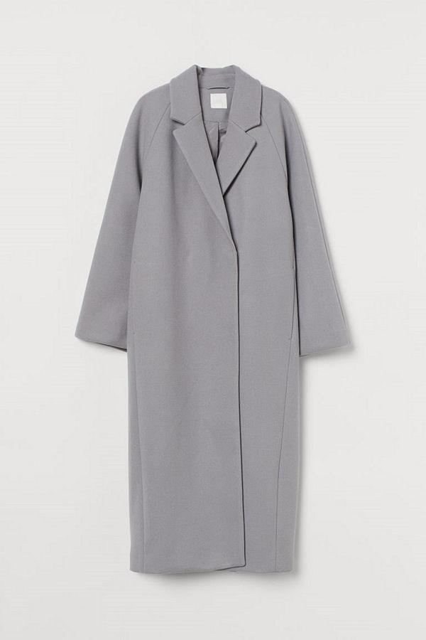 H&M Vadlång kappa grå