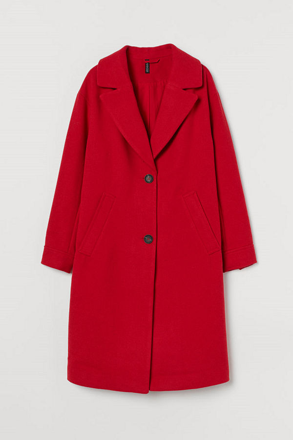H&M Kappa i ullmix röd