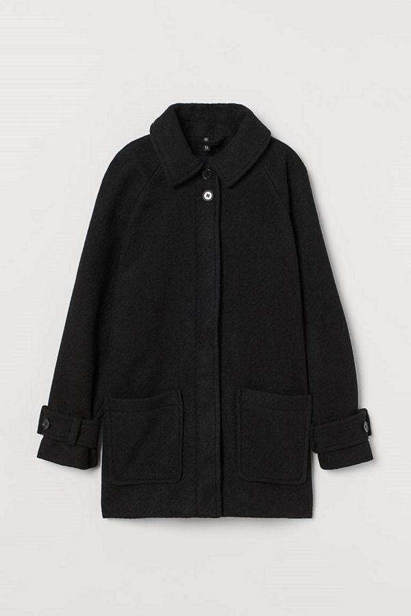 H&M Boxig twillkappa svart