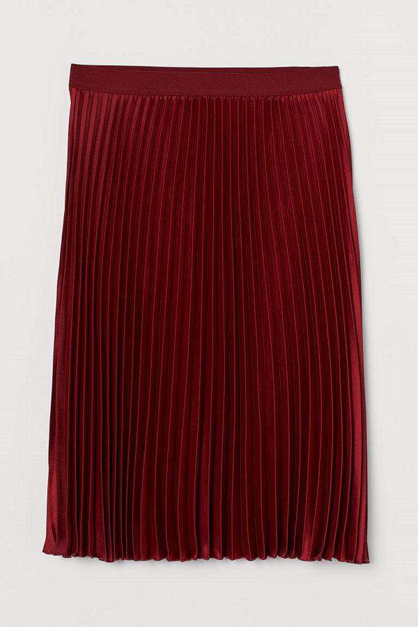 H&M H & M+ Plisserad kjol röd