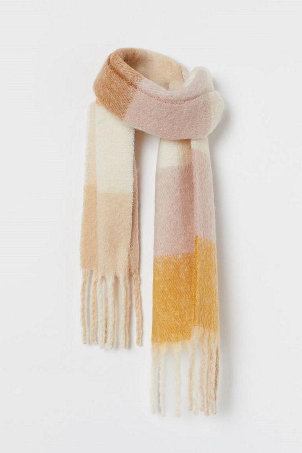 H&M Vävd scarf rosa