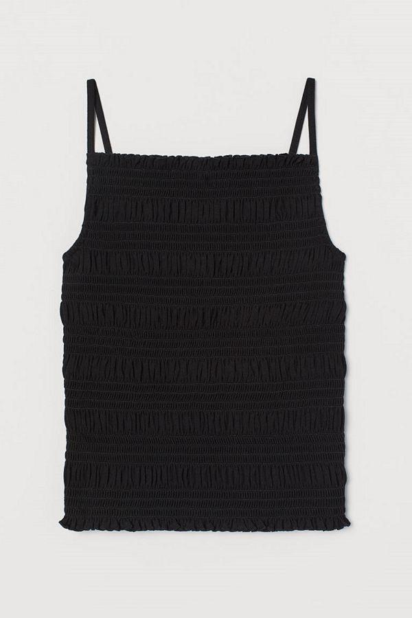 H&M Smockad topp svart