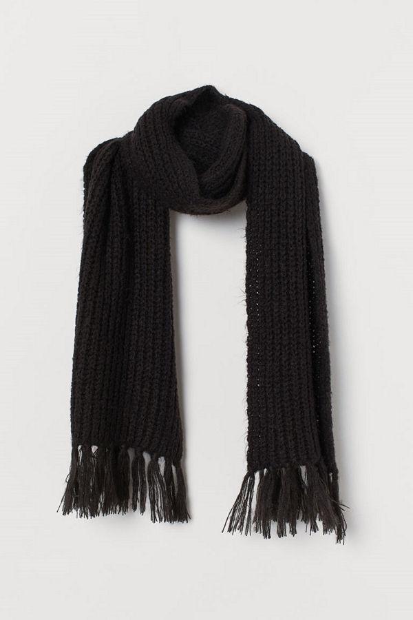 H&M Halsduk i ullmix svart