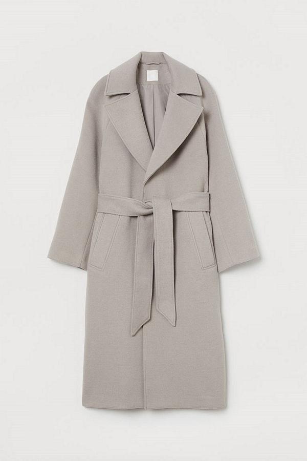H&M Filtad kappa med skärp brun