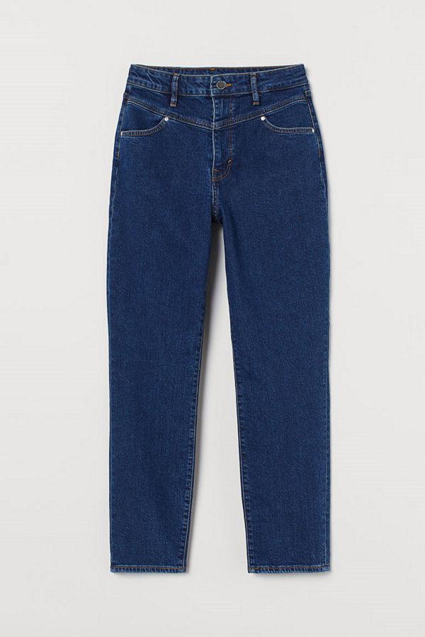 H&M Mom Ultra High Ankle Jeans blå
