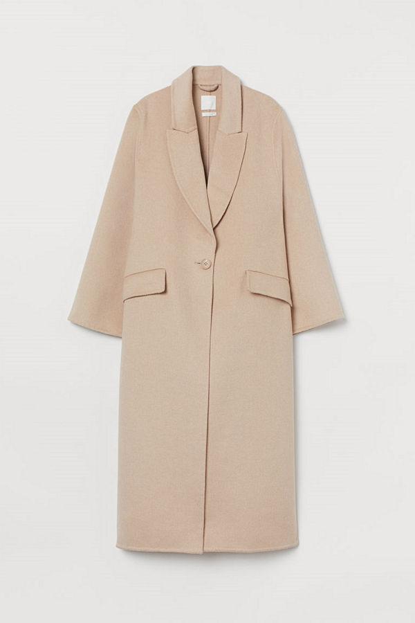 H&M Oversized kappa i ullmix beige