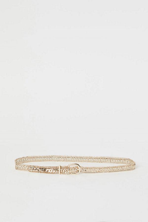 H&M Skärp av metallkedja guld