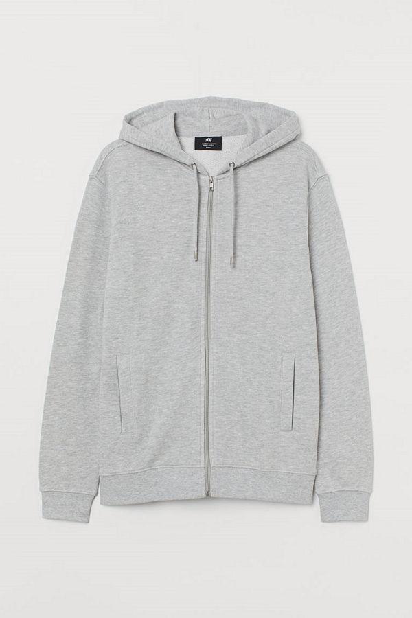 H&M Munkjacka Regular Fit grå
