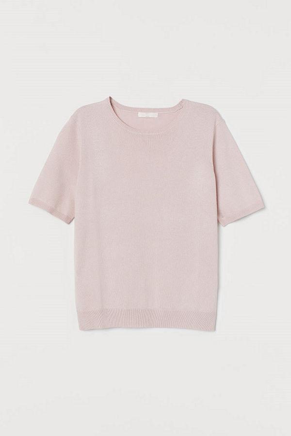 H&M Finstickad tröja rosa