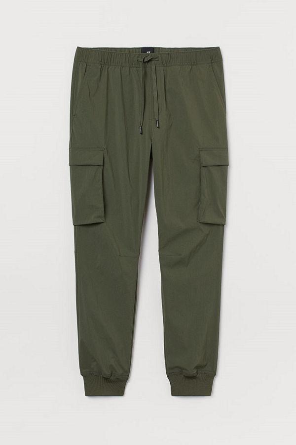 H&M Cargojoggers Slim Fit grön