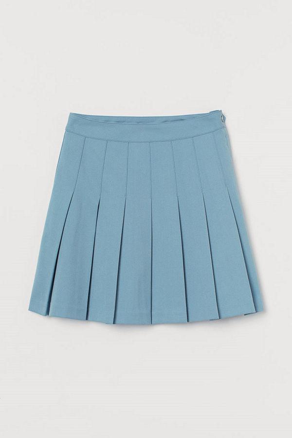 H&M Veckad kjol blå
