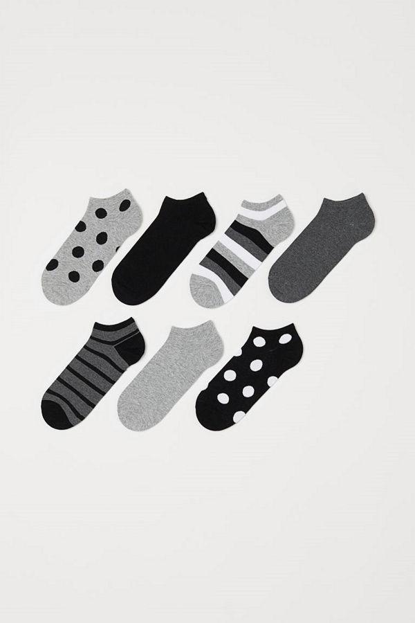 H&M 7-pack sneakersstrumpor grå
