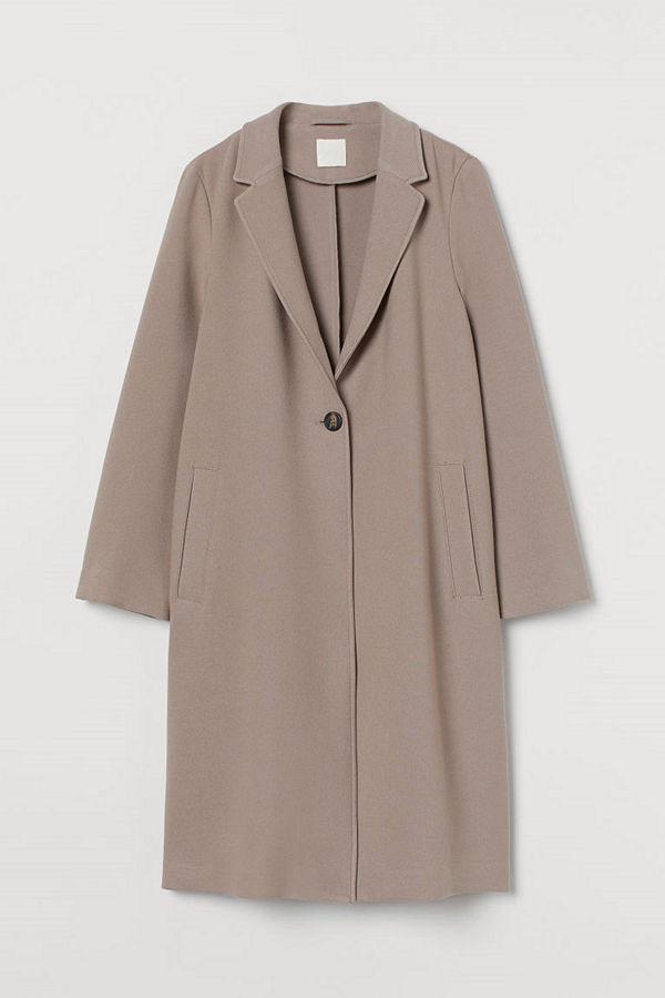 H&M Enkelknäppt kappa brun
