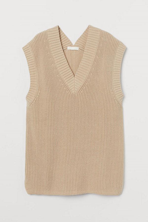 H&M Vid slipover beige
