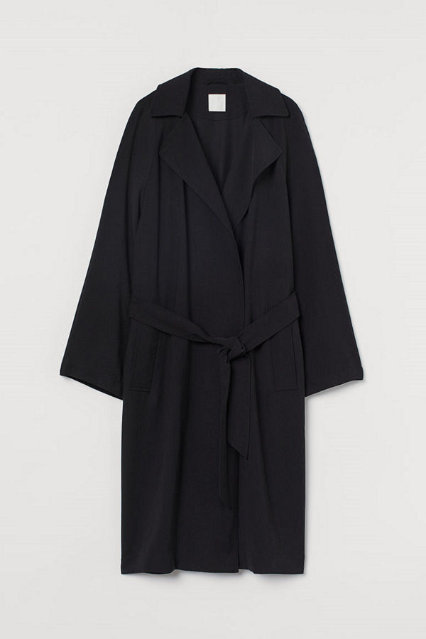 H&M Lätt trenchcoat svart
