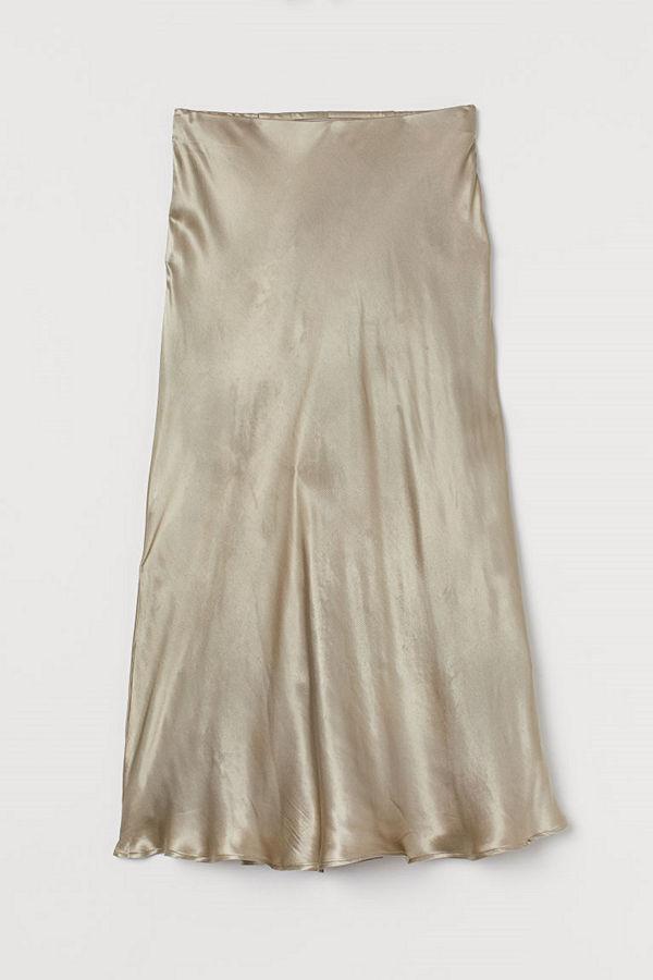 H&M Vadlång kjol grön