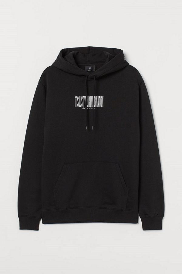 H&M Huvtröja svart