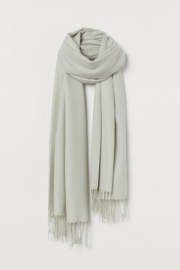 H&M Vävd scarf grön