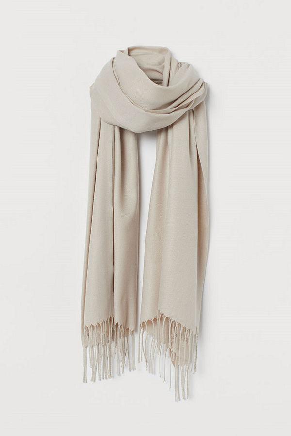 H&M Vävd scarf brun