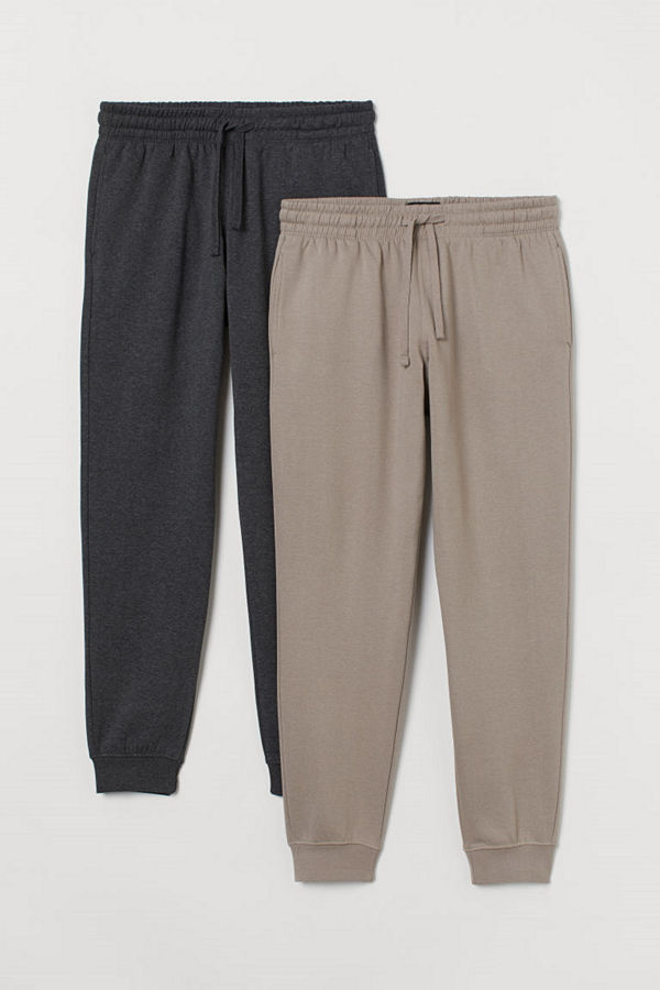 H&M 2-pack sweatpants brun