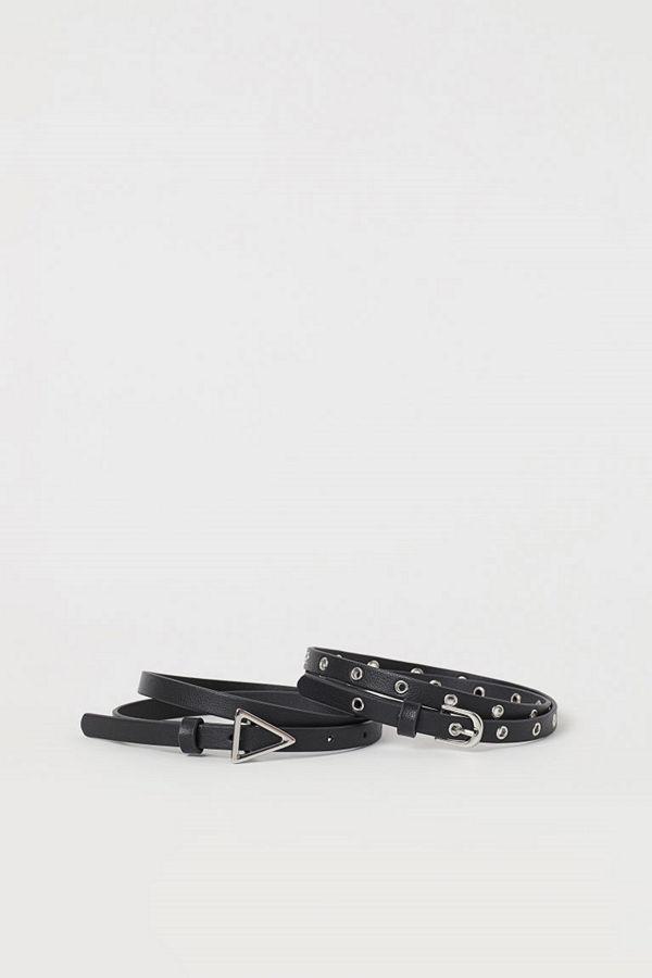 H&M 2-pack midjeskärp svart