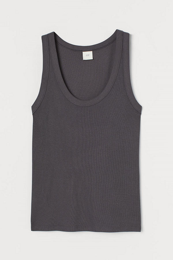 H&M Tanktop i modalmix grå
