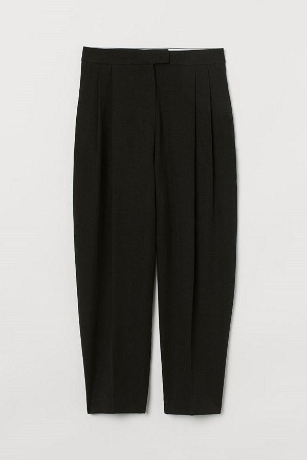 H&M Vida byxor med veck svart