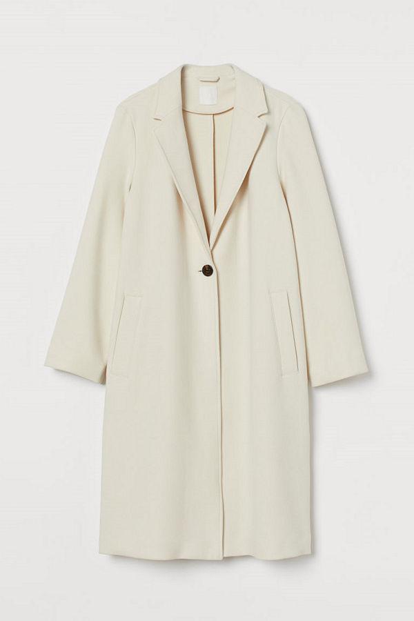 H&M Enkelknäppt kappa beige