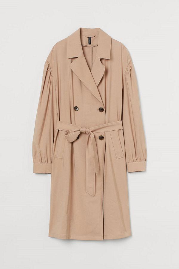 H&M Dubbelknäppt trenchcoat beige