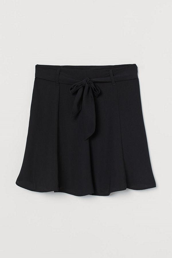 H&M Kort kjol svart