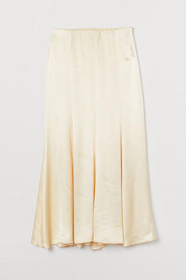 H&M Lång kjol gul