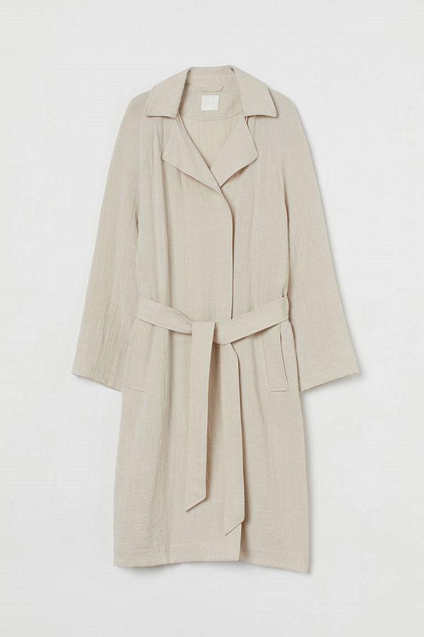 H&M Lätt trenchcoat beige