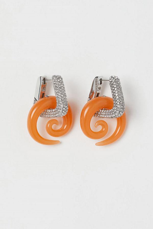 H&M Örhängen med strass orange
