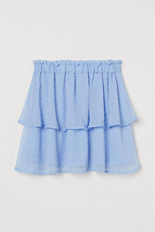 H&M Chiffongkjol blå