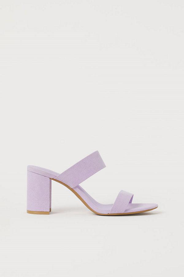 H&M Sandaletter med blockklack lila