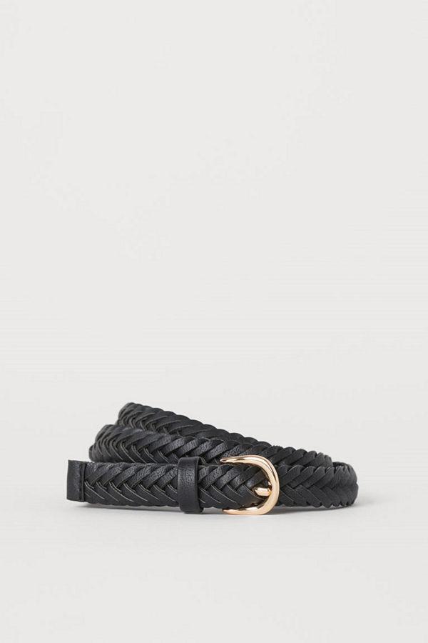 H&M Flätat skärp svart