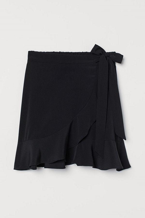 H&M Omlottkjol med volang svart