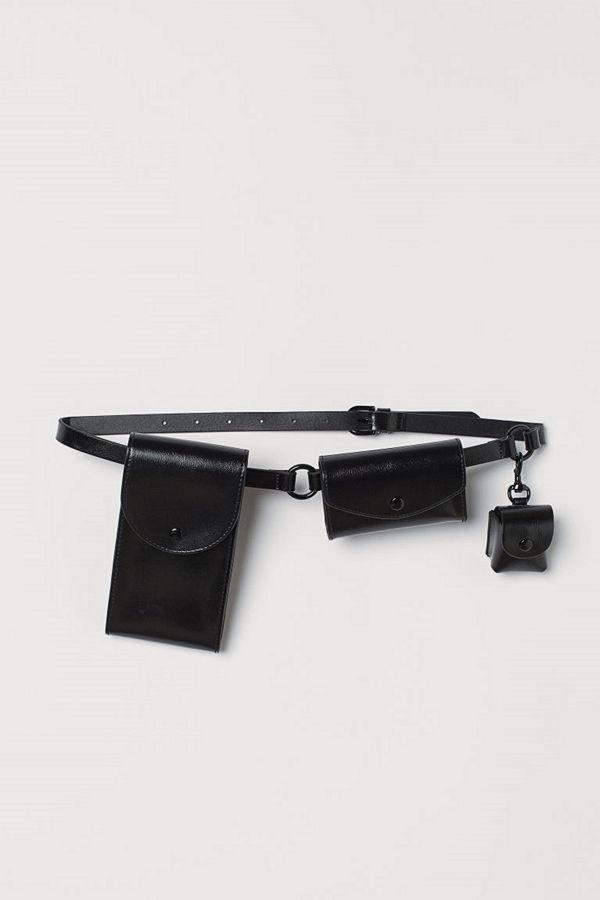 H&M Skärp med väskor svart