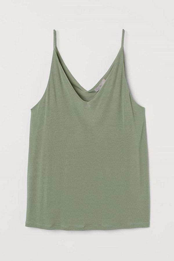 H&M V-ringat linne grön