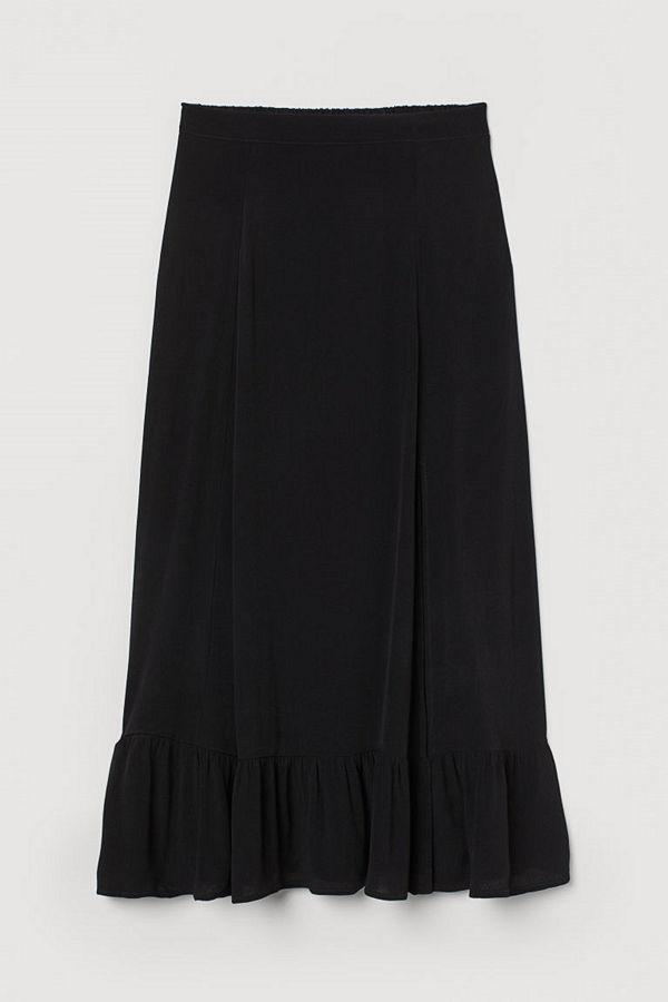 H&M Knälång kjol svart
