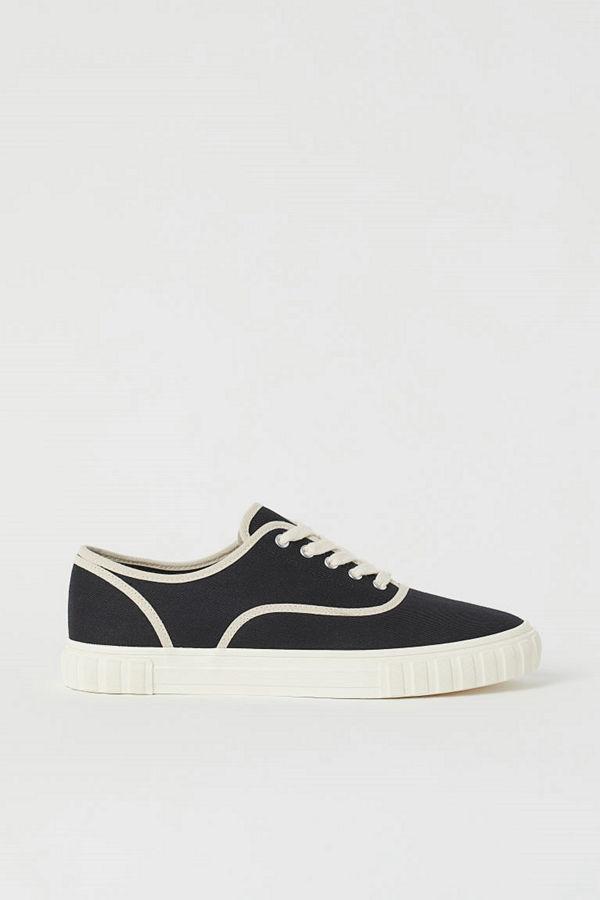 H&M Sneakers i twill svart